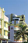 Art Deco Hotels. Miami Beach. Florida. USA