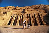 Musicians at the Nefertari Temple. Abu Simbel. Egypt