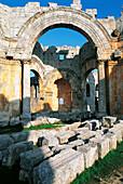 Ruins of the Basilica of St. Simeon near Aleppo. Syria