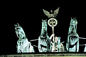 Brandenburg Gate, detail of the Quadriga. Berlin. Germany