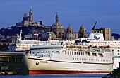 Algeiran ship at port. Marseille. France