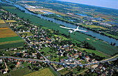 Aerial view, Aerial views, Aeroplane, Aeroplanes, Aircraft, Aircrafts, Airplane, Airplanes, Color, Colour, Daytime, Europe, Exterior, Flight, Flights, Fly, Flying, France, Horizontal, Light aircraft, Light aircrafts, Normandy, Outdoor, Outdoors, Outside,