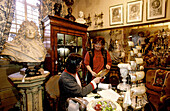 Antiques shop. Portobello Road. London. England