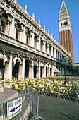 Outdoor cafe at St. Mark s Square. Venice. Italy