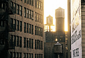 Industrial landscape, Manhattan. New York City, USA