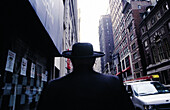 USA, NewYork. Manhattan, orhodox jew in a street