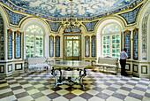 Chinese pavilion. Nymphenburg castle and park. Munich (Munchen). Bavaria. Germany