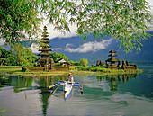 Temple Pura Ulun Danu on lake Bratan. Bali island. Indonesia