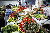 The market . Antigua, ancient capital. Guatemala