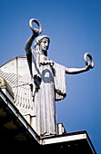 Sparkasse building, detail of a roof statue, architect Otto Wagner. Vienna. Austria