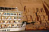 Ramses II Temple on Lake Nasser bank, Abu Simbel. Nubia, Egypt