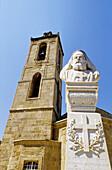 Bust of Makarios III, archbishop and primate of the Orthodox Church of Cyprus. Nicosia, Cyprus