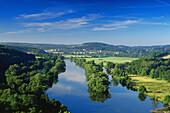 View from Hohenstein over the Ruhr, Witten, Ruhr Valley, Ruhr, Northrhine, Westphalia, Germany