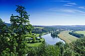 View over Hattingen, Ruhr Valley, Ruhr, Northrhine, Westphalia, Germany