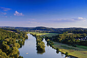 View from mount Hohenstein to river Ruhr, Witten, North Rhine-Westphalia, Germany