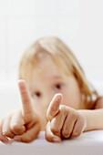 Gesture, Gestures, Gesturing, Girl, Girls, Hand, Hands, Human, Idea, Ideas, Index finger, Indoor, In