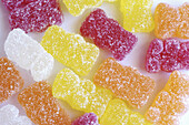 Background, Backgrounds, Candies, Candy, Childhood, Close up, Close-up, Closeup, Color, Colour, Gummi bear, Gummi bears, Gummy bear, Gummy bears, Horizontal, Indoor, Indoors, Infantile, Inside, Interior, Pattern, Patterns, Still life, Sugar, Sweet, Sweet