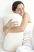 Contemporary, Cushion, Cushions, Dark-haired, Embrace, Embracing, Emotion, Emotions, Expressive, Expr