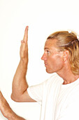 r-haired, Generation X, Gesture, Gestures, Gesturing, Human, Indoor, Indoors, Informal, Inside, Inter
