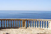 Balconies, Balcony, Blue, Calm, Calmness, Coast, Coastal, Color, Colour, Concept, Concepts, Daytime, Exterior, Horizon, Horizons, Horizontal, Nobody, Outdoor, Outdoors, Outside, Peaceful, Peacefulness, Quiet, Quietness, Sea, Silence, Tranquil, Tranquilit