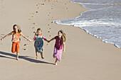 ance, Exuberant, Female, Full-body, Full-length, Fun, Girl, Girls, Hand holding, Hand-holding, Happin