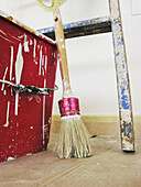 Brush, Brushes, Bucket, Buckets, Color, Colour, Concept, Concepts, D i y, Detail, Details, Dirty, DIY, Do it yourself, Do-it-yourself, Floor, Floors, Home improvement, Home improvements, Indoor, Indoors, Inside, Interior, Ladder, Ladders, Object, Objects