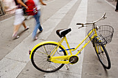 Bicycle, Bicycles, Bike, Bikes, Biking, Blurred, Cityscape, Cityscapes, Close up, Close-up, Closeup, Color, Colour, Concept, Concepts, Cycle, Cycles, Daytime, Detail, Details, Exterior, Human, Motion, Movement, Moving, Outdoor, Outdoors, Outside, Parked,