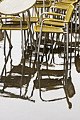 Bar, Bars, Cafe, Cafe terrace, Cafe terraces, Cafes, Chair, Chairs, Coffee shop, Coffee shops, Color, Colour, Concept, Concepts, Daytime, Empty, Exterior, Leisure, Many, Nobody, Outdoor, Outdoor cafe, Outdoor cafes, Outdoors, Outside, Rain, Raining, Rain