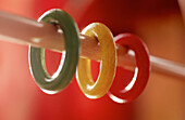 Childhood, Close up, Close-up, Closeup, Color, Colored, Colorful, Colors, Colour, Coloured, Colourful, Colours, Concept, Concepts, Detail, Details, Green, Horizontal, Indoor, Indoors, Infantile, Interior, Red, Rings, Stick, Sticks, Toy, Toys, Wood, Woode