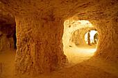 Underground opal mine. Coober Peby, world capital of the opal. South Australia. Australia