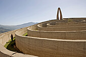 Labyrinth of Ariadne (1990) artwork by Italo Lanfredini 1990. Parco delle Madonie natural park area, Sicily, Italy