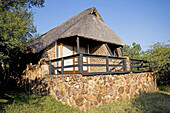 A bungalow. The luxurious Phinda Lodge located in a private 17000 hectares private park. Kwazulu-Natal province. South Africa