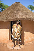Mr Alfred the village chief. Traditional zulu craft center of Thembalethu. Kwazulu-Natal province. South Africa