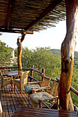 The luxurious Phinda Lodge located in a private 17000 hectares private park. Kwazulu-Natal province. South Africa