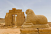 Temple of Amun lined by rams in Naga, remnants of the Meroitic civilization. Upper Nubia, River Nile state, Sudan