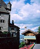 Yvoire on Lake Geneva. Haute-Savoie. France