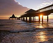 Sea bridge. Heringsdorf. Usedom island. Mecklenburg-Western Pomerania. Germany