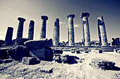 Templo de Hercules, Valle dei Templi, Agrigento, Sicilia,Italia