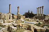 Lybia: Leptis Magna was enlarged and embellished by Septimius Severus, who was born there and later became emperor. It was one of the most beautiful cities of the Roman Empire, with its imposing public monuments, harbour, market-place, storehouses...