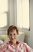 expressions, Female, Glasses, Grin, Grinning, Home, Human, Indoor, Indoors, Inside, Interior, Lifesty