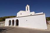 Church, Sant Mateu d Albarca. Ibiza, Balearic Islands. Spain