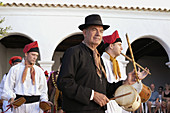 Traditional costumes and folk music. Ibiza, Balearic Islands. Spain