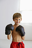 Facing camera, Fighter, Fighters, Fit, Grin, Grinning, Human, Indoor, Indoors, Inside, Interior, Kid