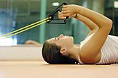 Contemporary, Dark-haired, Exercise, Exercises, Female, Fit, Fitness, Floor, Floors, Girl, Girls, Gy