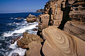 Coastal sandstone, Maitland Bay, Bouddi National Park, Central Coast, New South Wales, Australia
