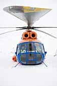 Portrait of a Russian MI-8 helicopter, Kamchatka, Sibiria, Russia