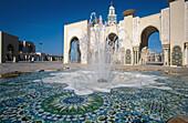 Fountain at Hassan II mosque, Casablanca. Morocco