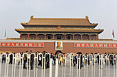 Gate of Heavenly Peace in Tiananmen Square, Beijing. China