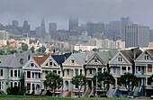 Alamo Square Victorian Houses. San Francisco. USA