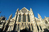 Architecture, Art, Arts, Building, Buildings, Cathedral, Cathedral of Saint Peter, Cathedrals, Church, Churches, Cities, City, Color, Colour, Daytime, England, Europe, Exterior, Facade, Façade, Facades, Façades, Gothic architecture, Grandness, Great Brit